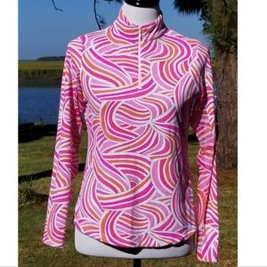 IBKUL 1/4 zip sun shirt